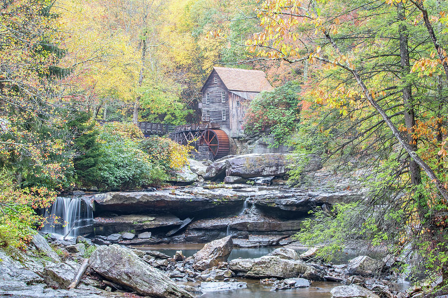 Glade Creek Grist Mill In Autumn Photograph
