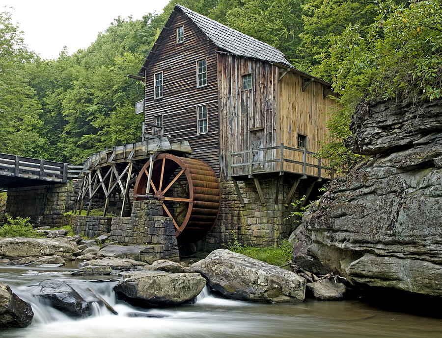 Glade Photograph - Glade Creek Grist Mill Located In Babcock State Park West Virginia by Brendan Reals