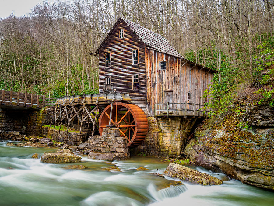 Glade Creek Grist Mill by Steve Zimic