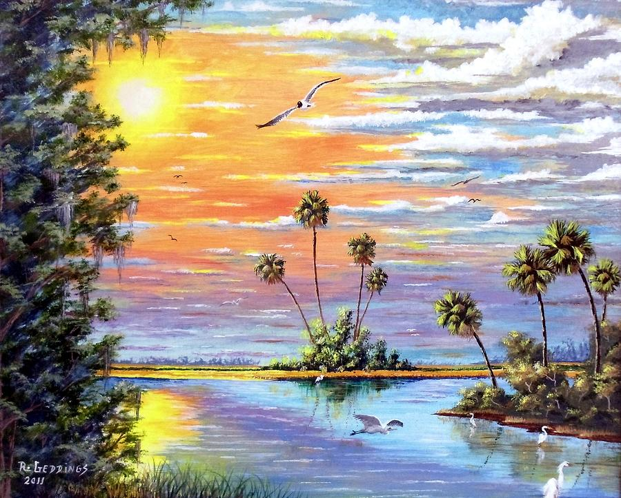 Art Work Painting - Glades Inspiration by Riley Geddings