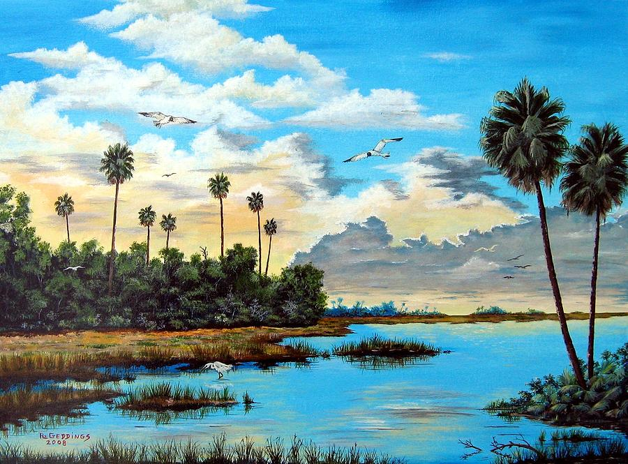 Oasis Painting - Glades Oasis by Riley Geddings