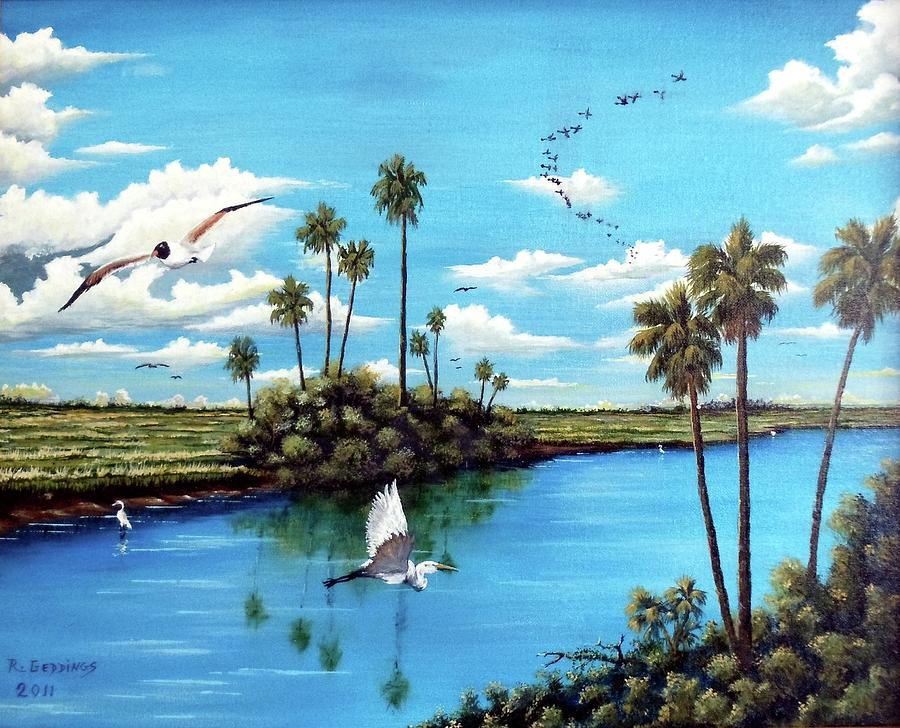 Art Work Painting - Glades Shark River Slough by Riley Geddings
