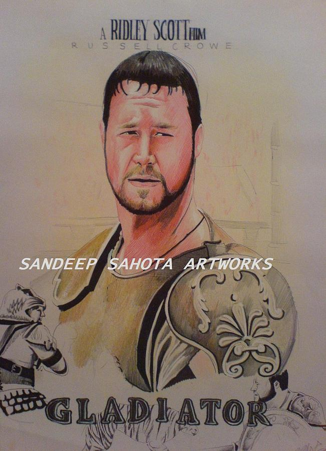 Tom Cruise Painting - Gladiator by Sandeep Kumar Sahota