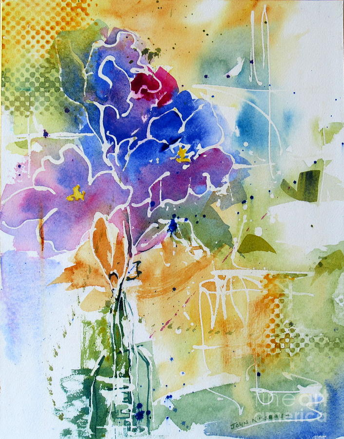 Abstract Paintings Painting - Gladioli by John Nussbaum