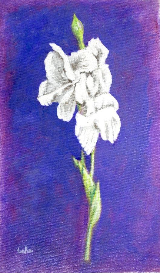 Gladiolus 2 Painting by Usha Shantharam