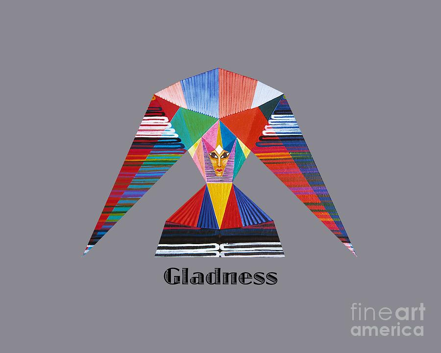 Perspectivism Painting - Gladness text by Michael Bellon
