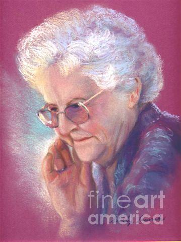 Portrait Painting - Glady by Shirley Leswick