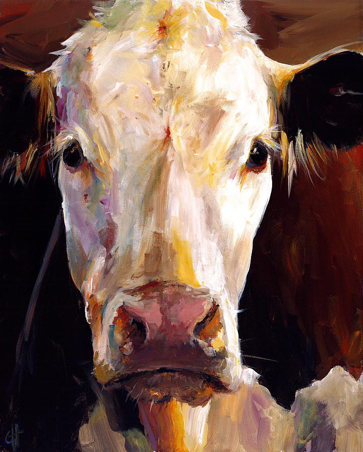 Cow Painting - Gladys The Cow by Cari Humphry