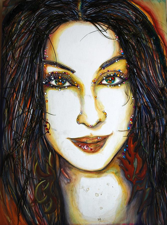 Actress Mixed Media - Glam Cher by Joseph Lawrence Vasile