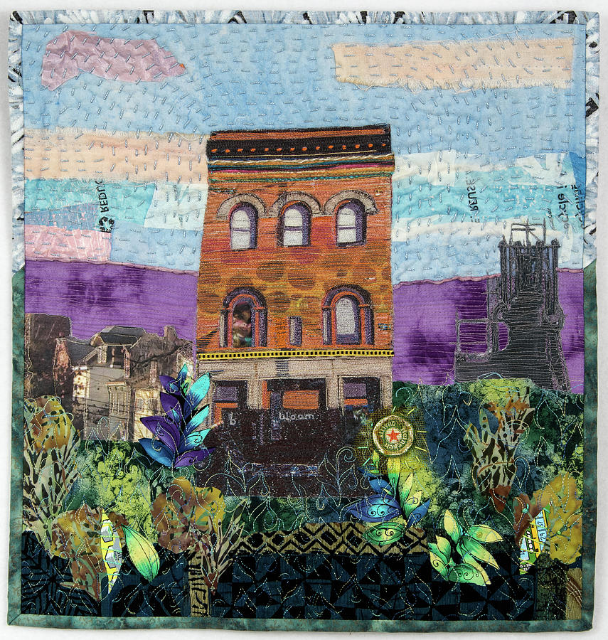 Landscape Tapestry - Textile - Glance At The Past II by Martha Ressler
