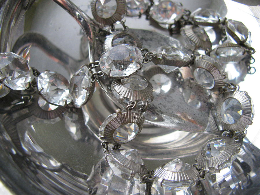 Jewelry Photograph - Glass And Silver by Lindie Racz