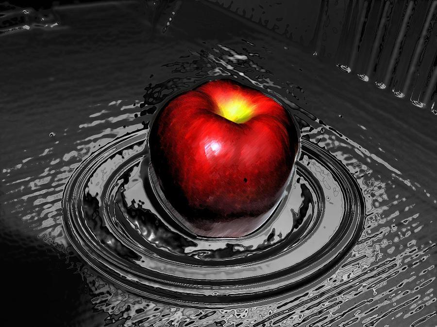 Still Life Photograph - Glass Apple by Frank Nicolato