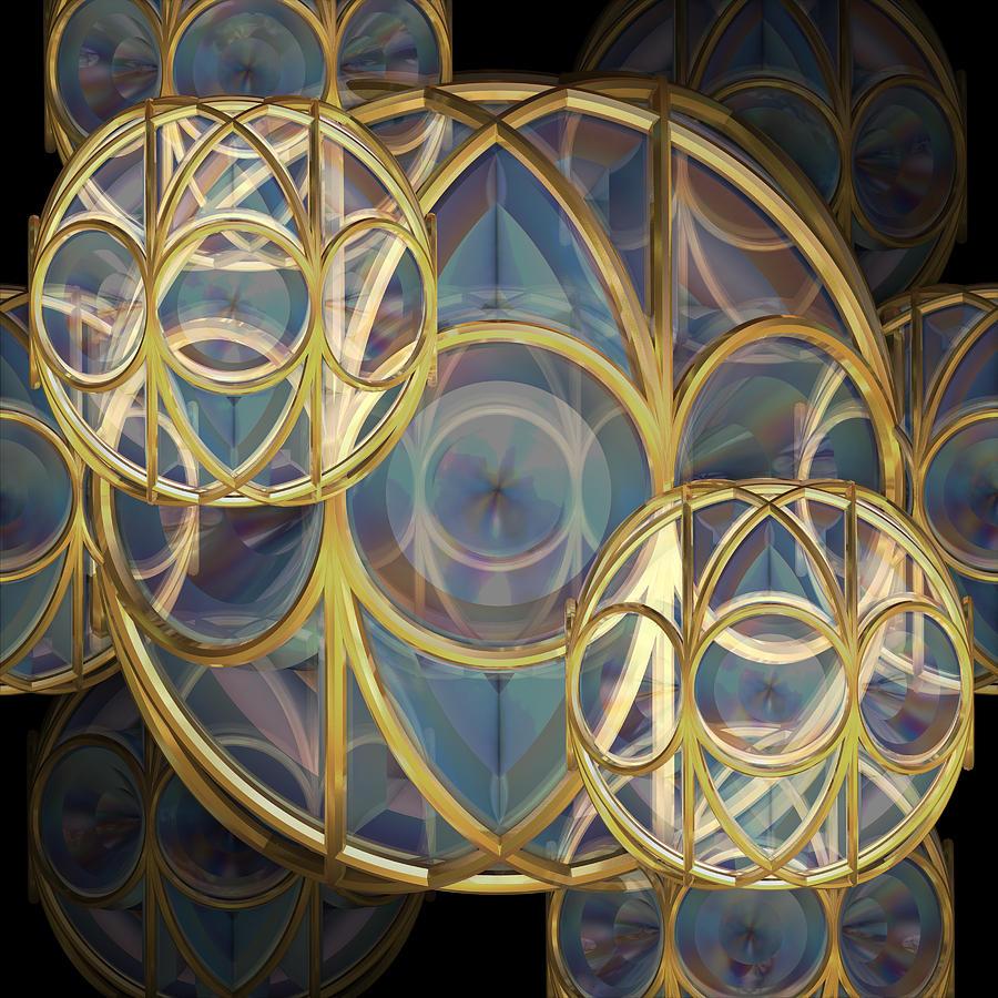 Glass Baubles Digital Art