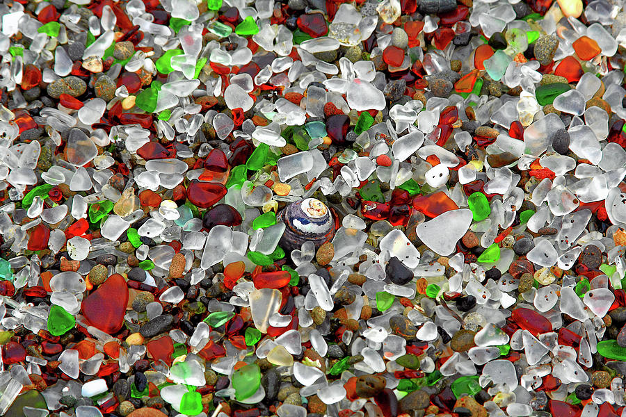 Natural Photograph - Glass Beach Fort Bragg Mendocino Coast by Christine Till