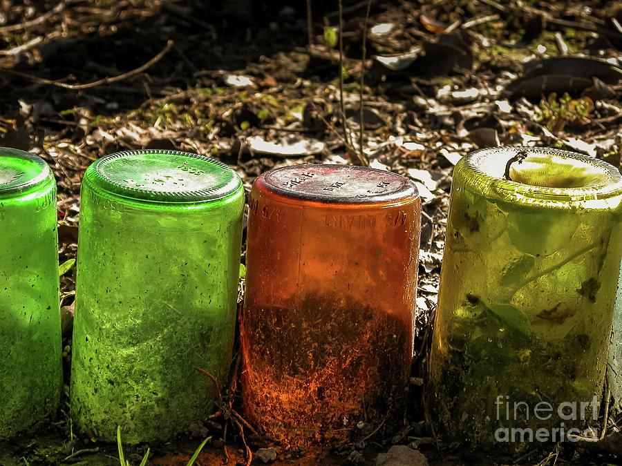 Glass Bottles Edge Photograph