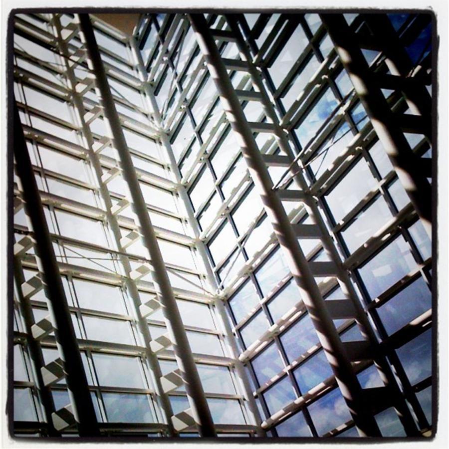 Glass Building Photograph by Juan Silva