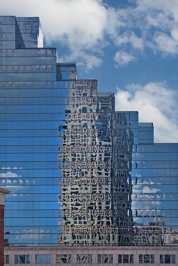 Reflections Photograph - Glass Building Reflections by Jan Stittleburg