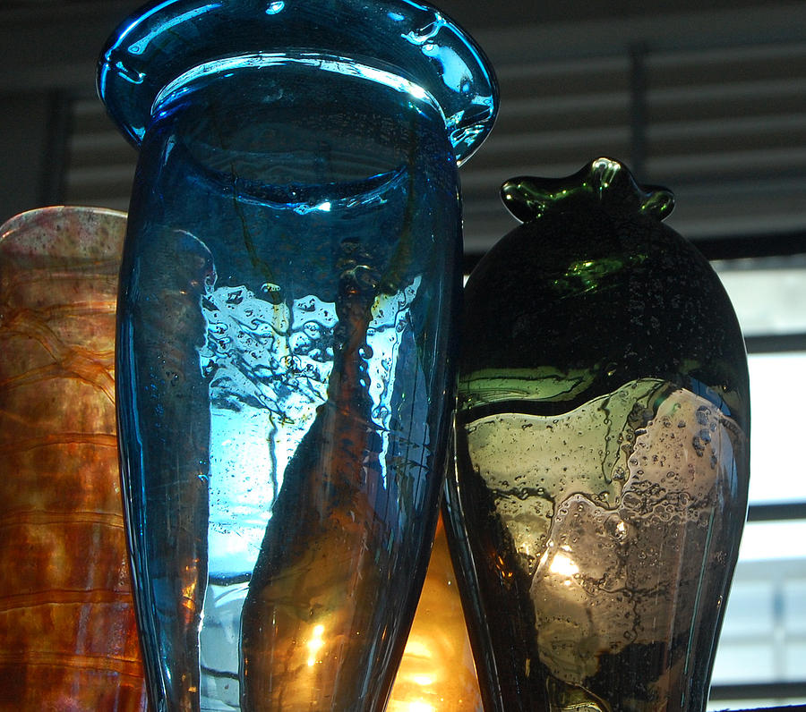 Color Photograph - Glass Colors by Jean Booth