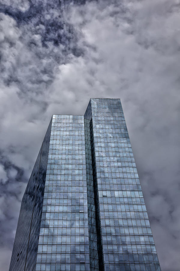 Glass Architecture Photograph - Glass High Rise And Clouds by Robert Ullmann