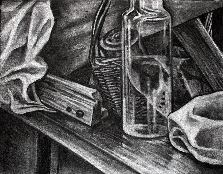 Glass Jar Drawing by Anastasiya Baron