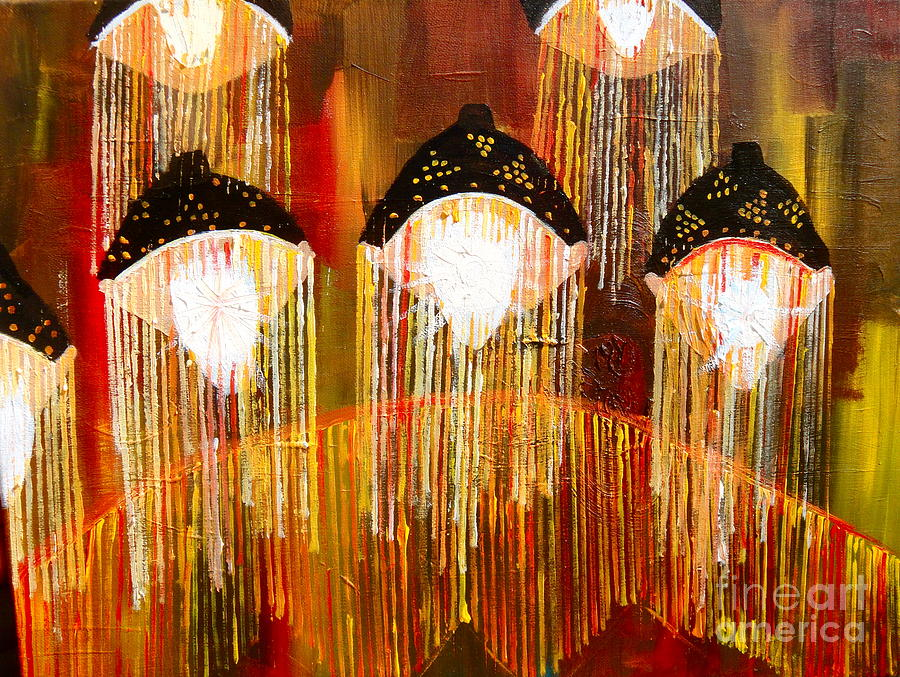 Lights Painting - Glass Jellyfish by Sabrina Phillips
