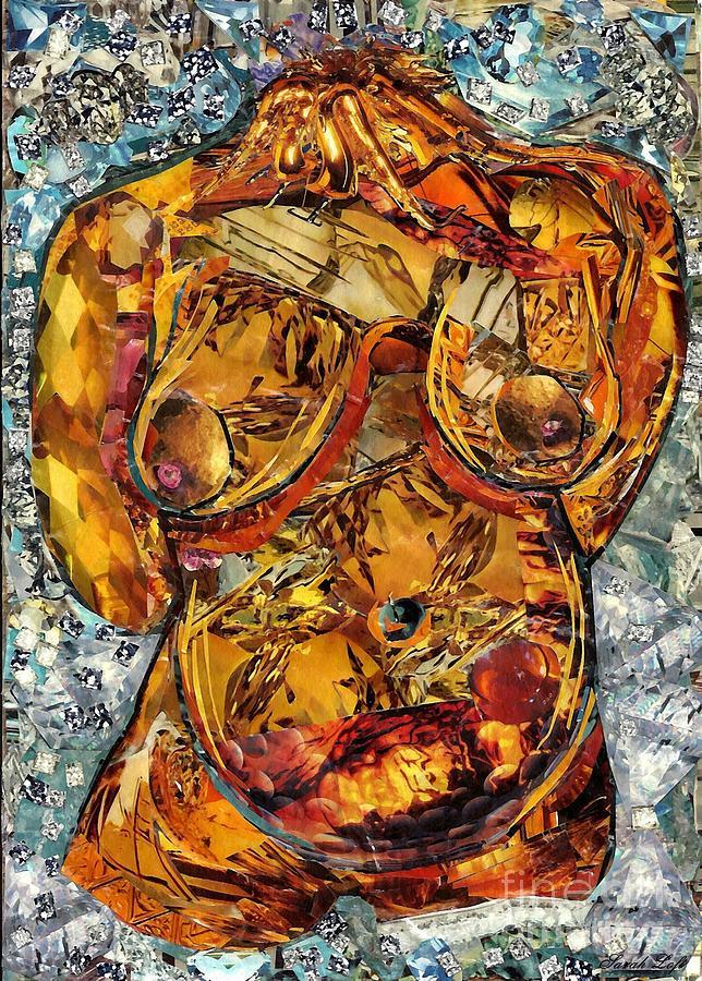 Nude Mixed Media - Glass Lady by Sarah Loft