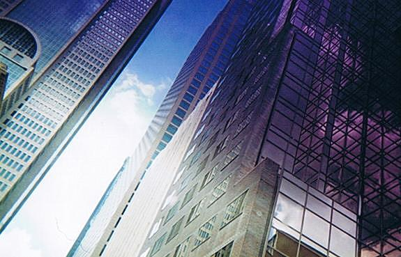 Glass Meets Sky Photograph by Kim Cooper