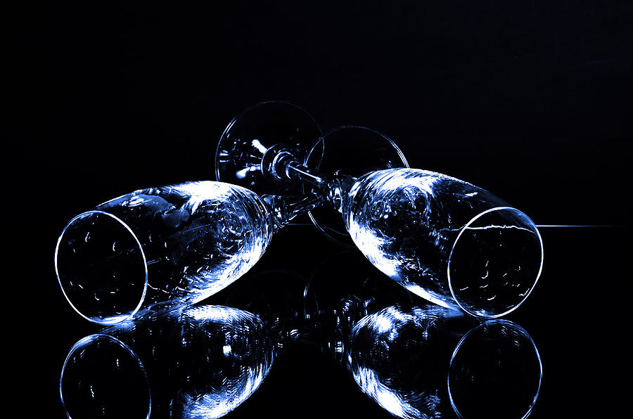 Alcohol Photograph - Glass Of Shampagne by Tommytechno Sweden