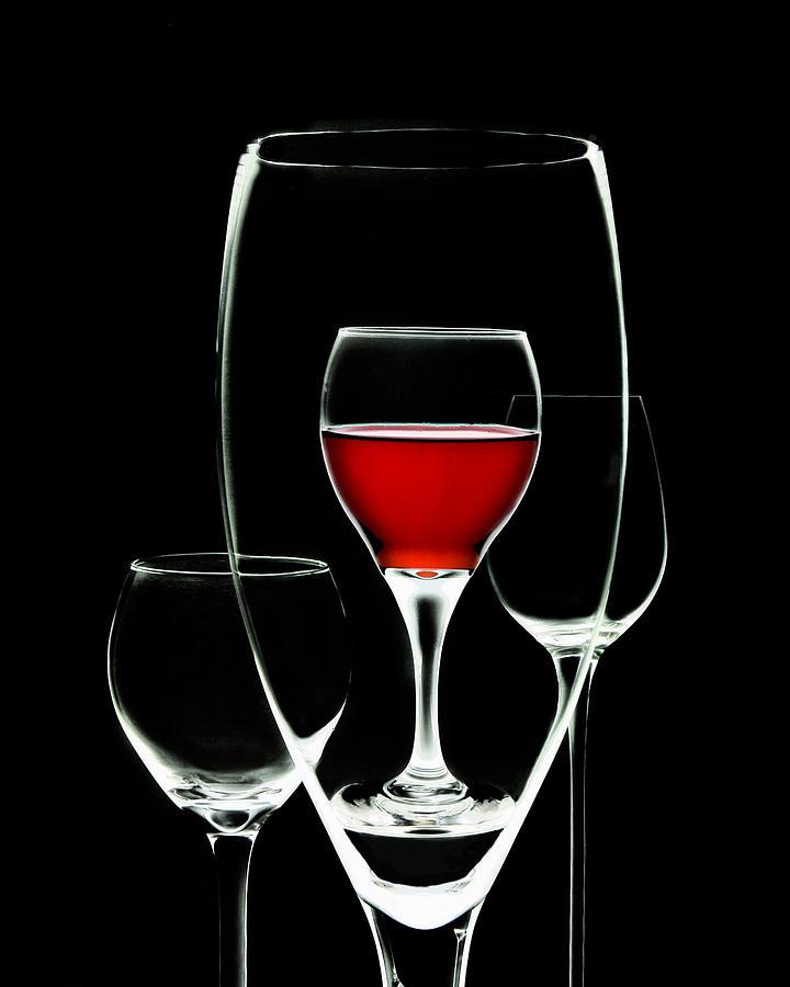 Wine Photograph - Glass of Wine in Glass by Tom Mc Nemar