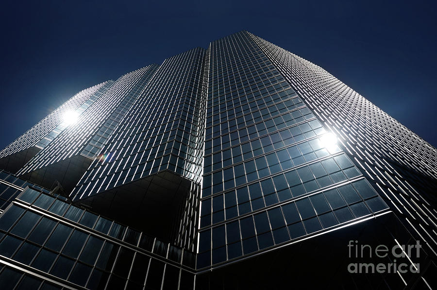 Office Photograph - Glass Office Building by Oleksiy Maksymenko