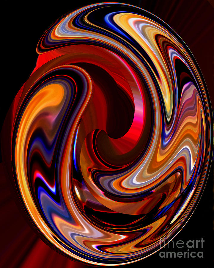 Abstract Photograph - Glass Ornament 2 by Terril Heilman