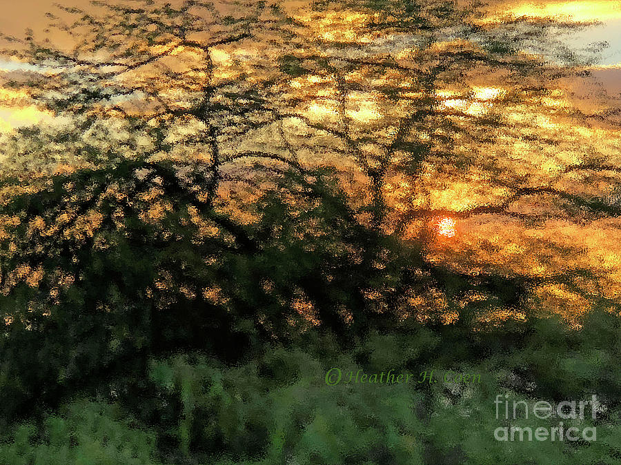 Sunset Photograph - Glass Sunset Hawaii by Heather Coen