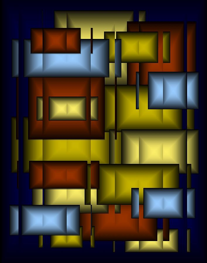 Glass Digital Art - Glass Tile Abstract by Terry Mulligan