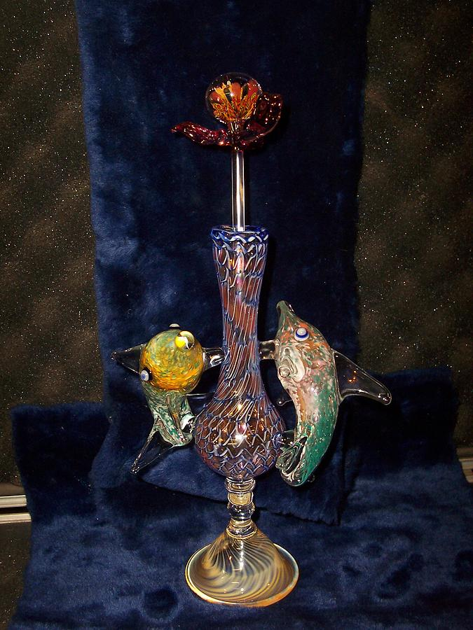 Vase Sculpture - Glass Vase by ODIE ODYSSY GLASS inc