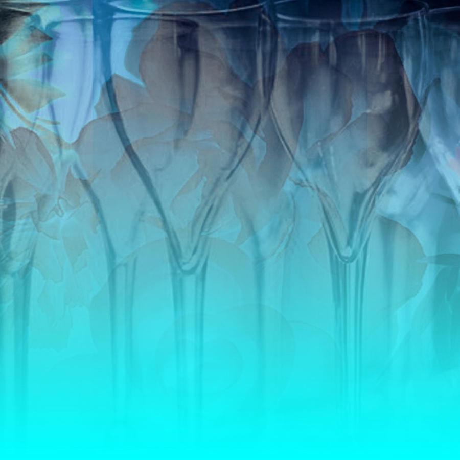 Glasses Digital Art - Glasses Floating by Allison Ashton