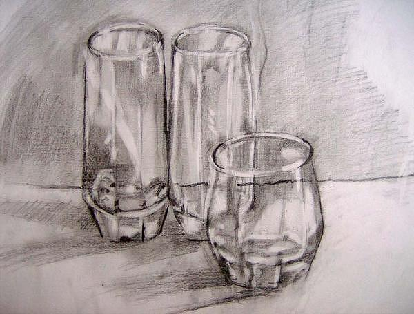 Glasses Drawing by Roxana Parje