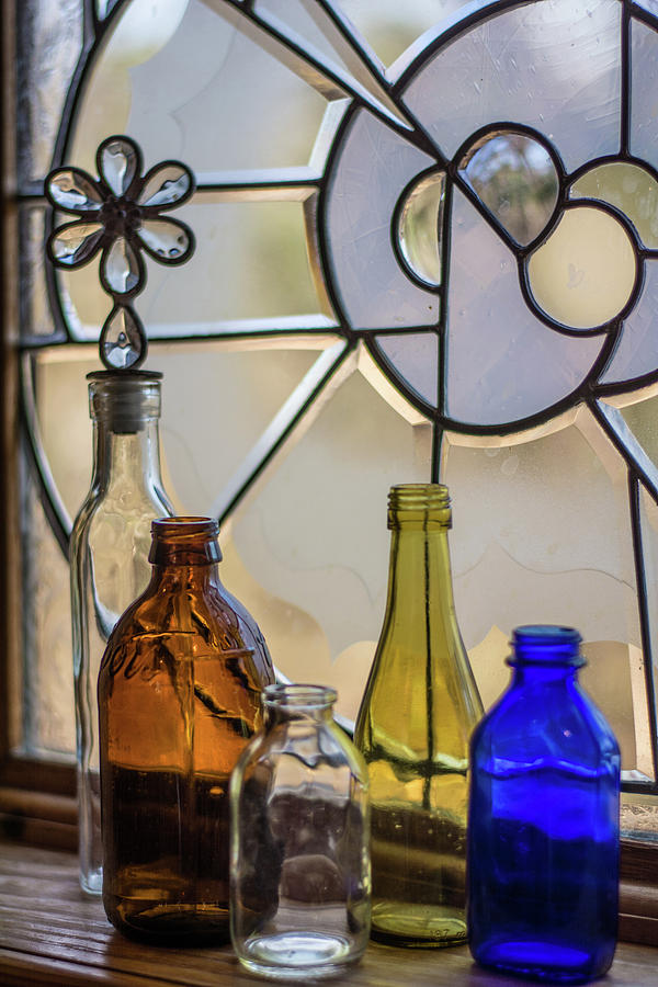 Bottles Photograph - Glassware #1 by Lea Rhea Photography