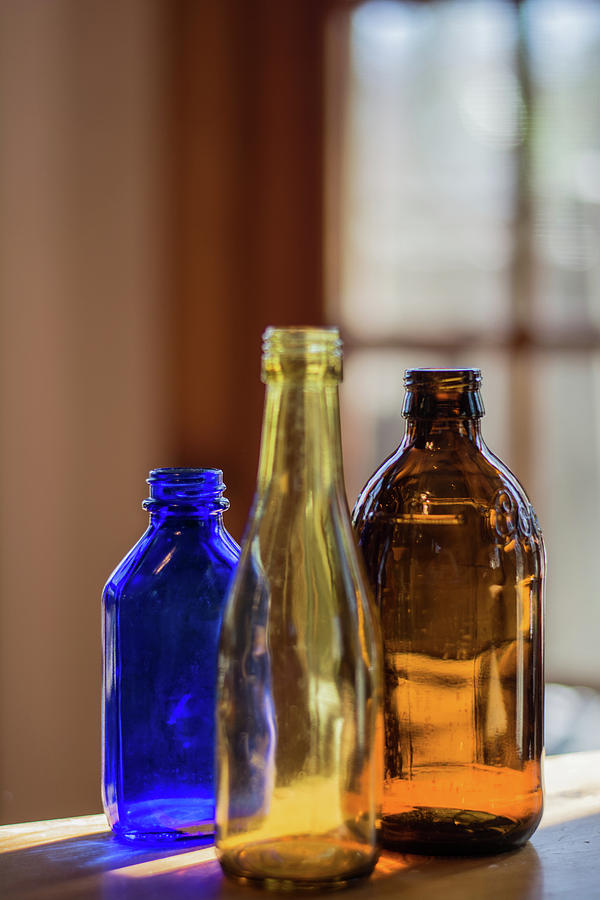 Bottles Photograph - Glassware #3 by Lea Rhea Photography