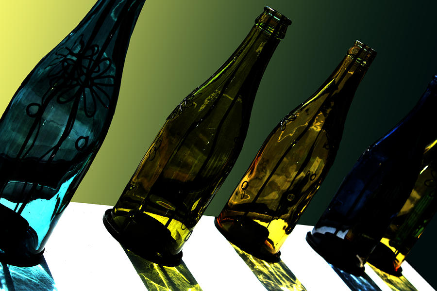Bottle Photograph - Glassworks by Barbara  White