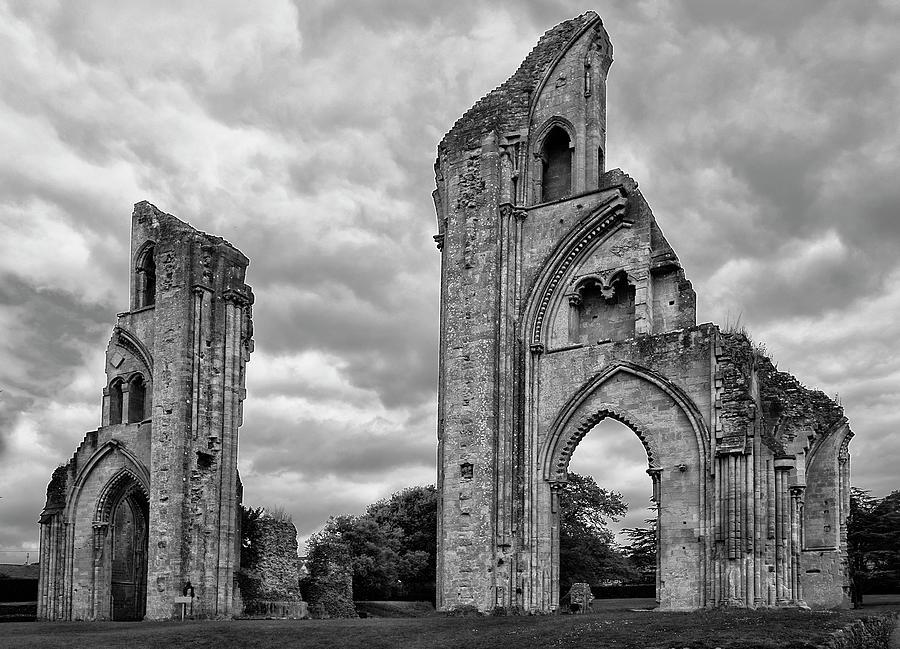 Abandoned Photograph - Glastonbury Abbey by Elvira Butler