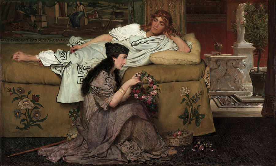 Nydia Painting - Glaucus And Nydia, 1867 by Sir Lawrence Alma-Tadema