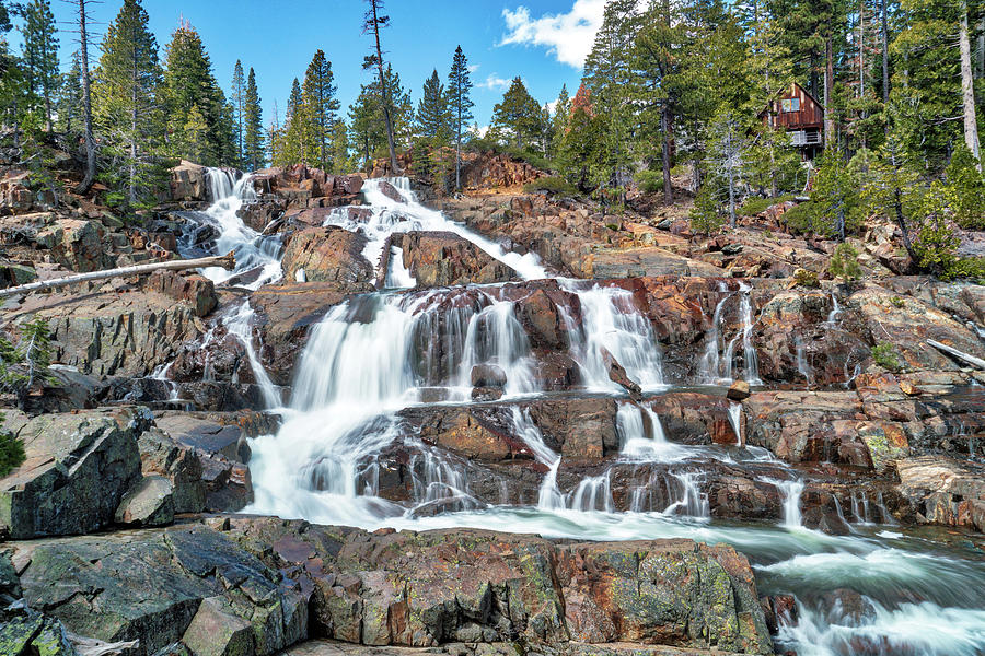 Waterfalls Photograph - Glen Alpine Waterfall by Michelle Joseph-Long