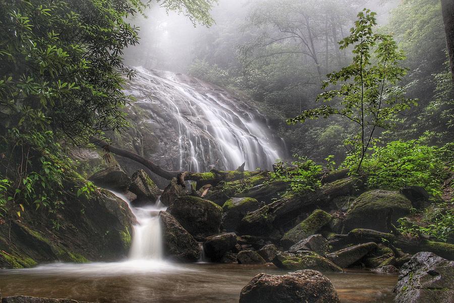 Waterfall Photograph - Glen Burney Falls by Chris Berrier