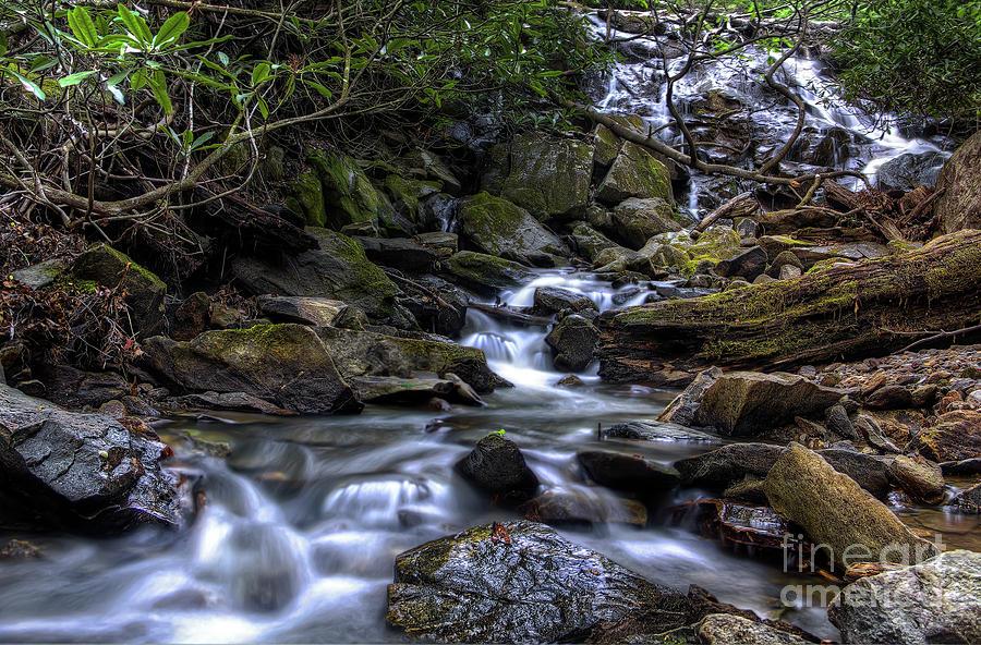Nature Photograph - Glen Burney Falls by James Foshee