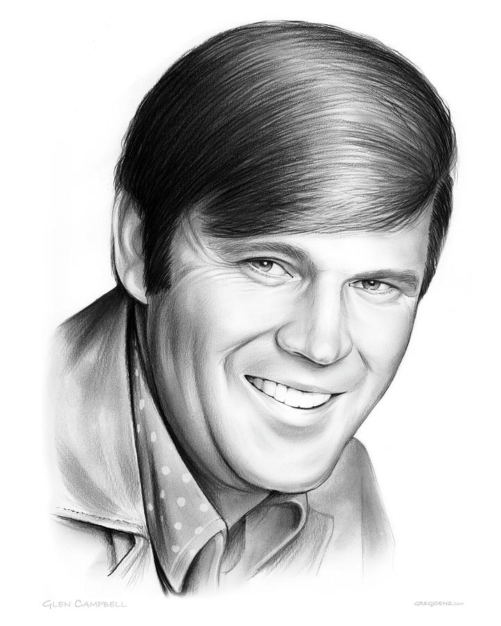 Glen Campbell Drawing