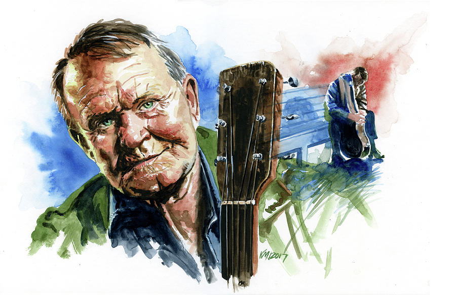 Guitarists Painting - Glen Campbell by Ken Meyer