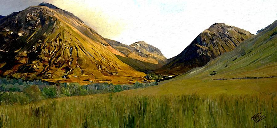 Impressionism Painting - Glen Coe by James Shepherd