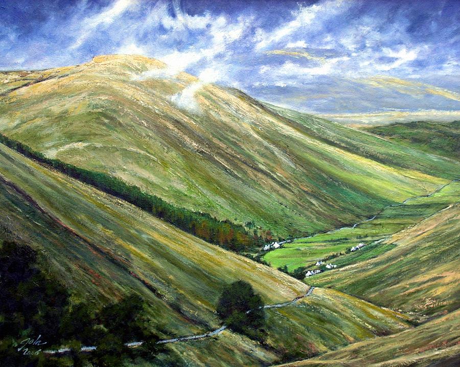 Landscapes Painting - Glen Gesh Ireland by Jim Gola