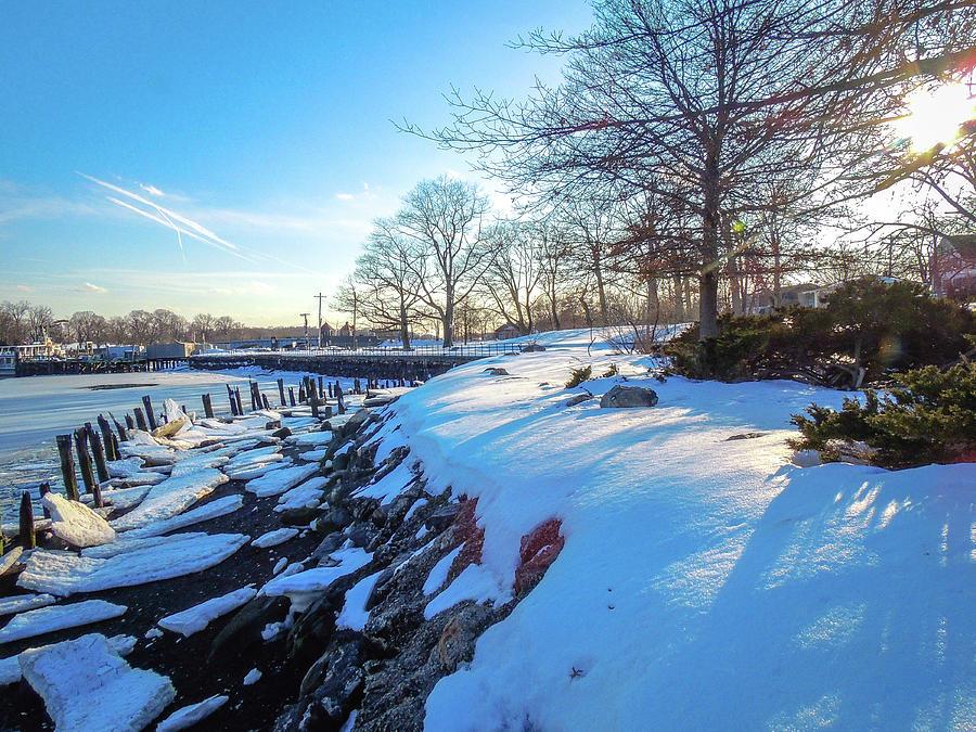 Glen Island Snowfall by Glenn Feron