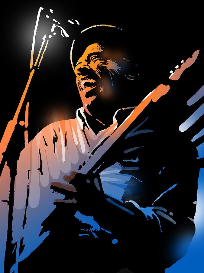 Blues Painting - Glen Terry by Paul Sachtleben